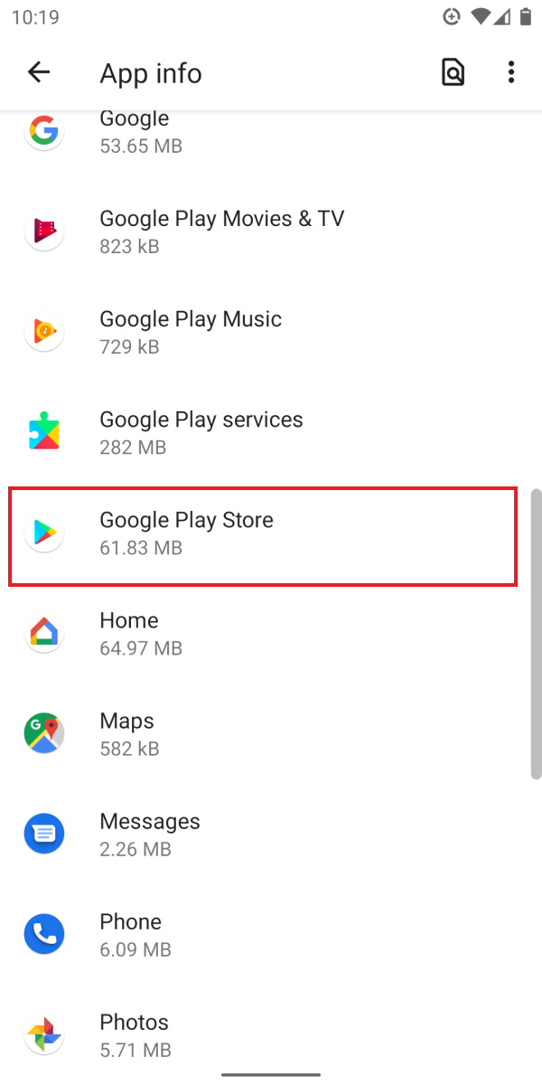 Update Google Play Store App on Android