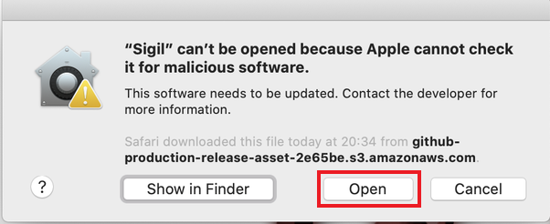 """Fix """"macOS cannot verify that this app is free from malware"""""""