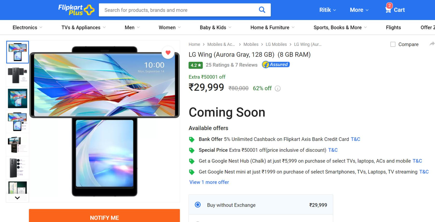 LG Wing at Rs. 29,999- Is it Worth Buying Now?