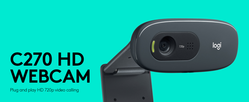 Logitech C270- Best PC Webcams Under Rs 2000 to Buy in India 2021