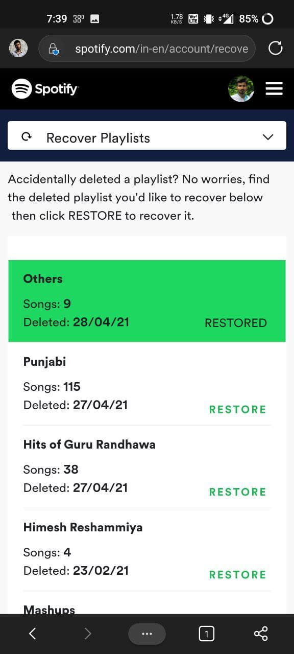 Recover Deleted Playlists on Spotify