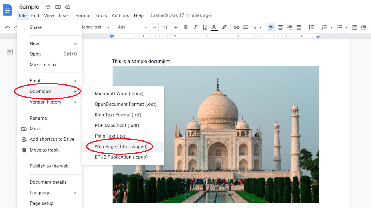 Save Images from Google Docs