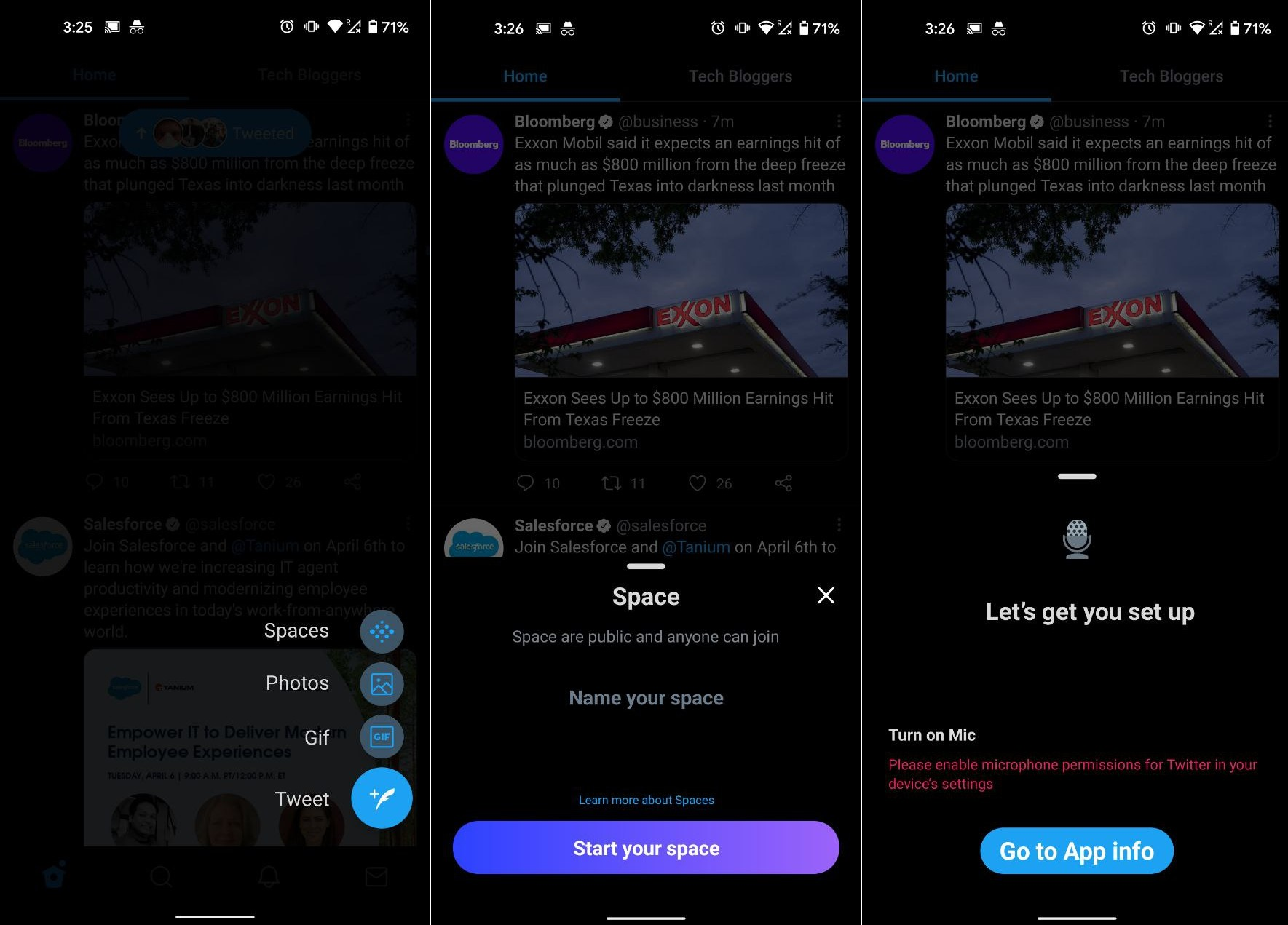 Create Twitter Spaces Audio Chats on Android iOS