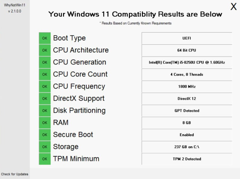 Know Why Your PC is Not Compatible with Windows 11