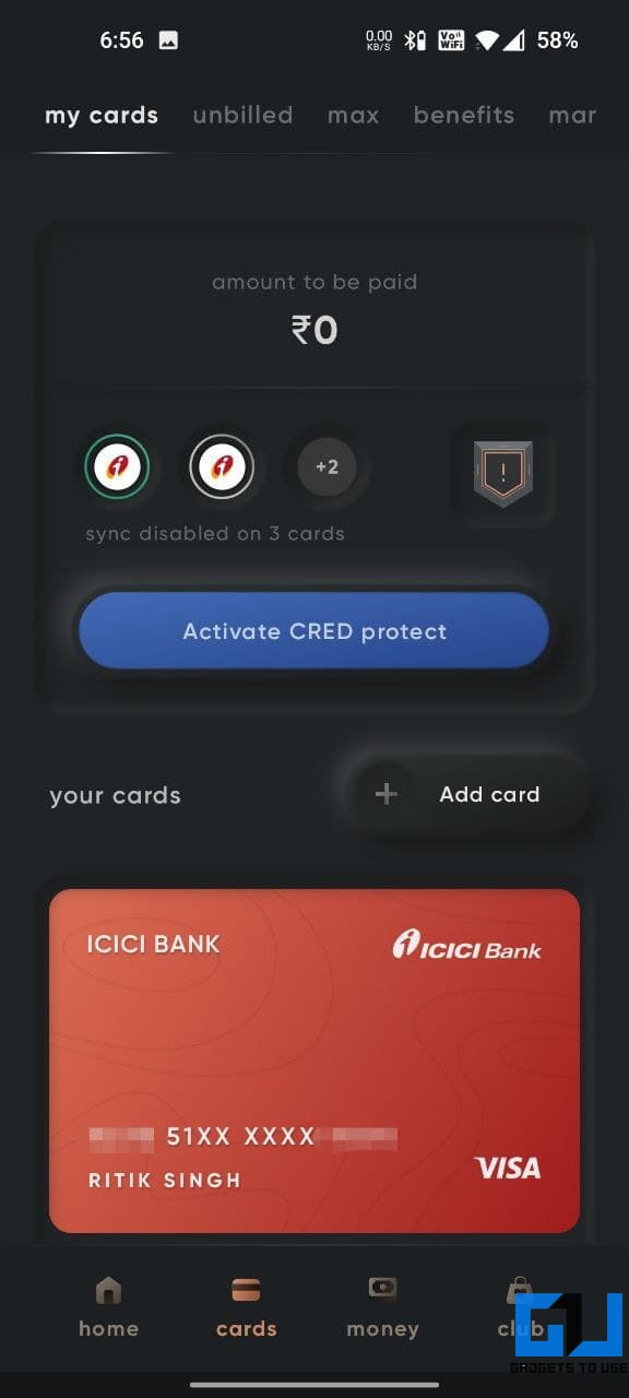 Cred Credit Card Bill Payment App