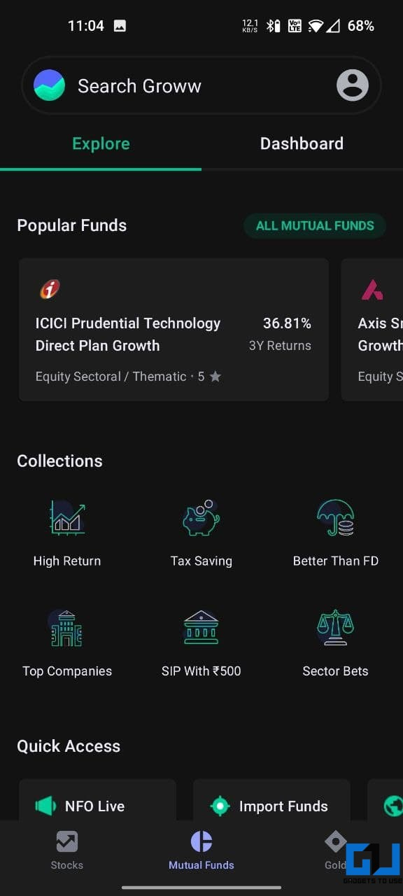 Groww- Best Direct Mutual Fund Apps in India