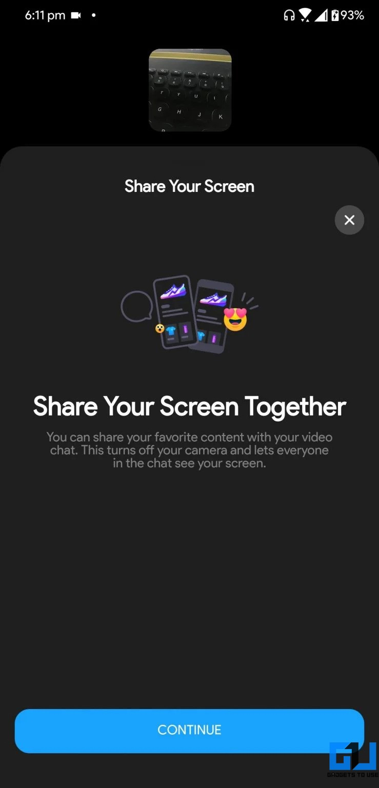 Share Phone's Screen During Video Calls on Messenger