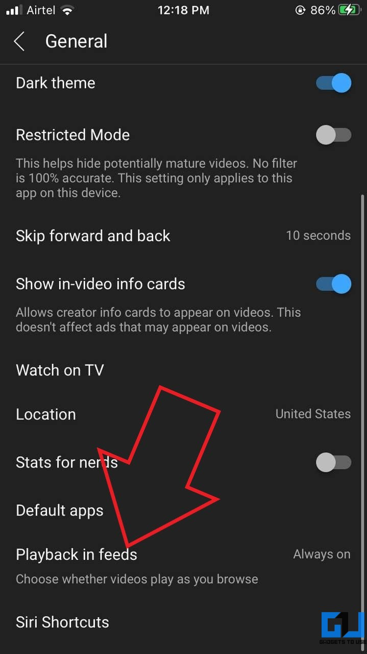 Disable Autoplay Videos in YouTube Feed iOS