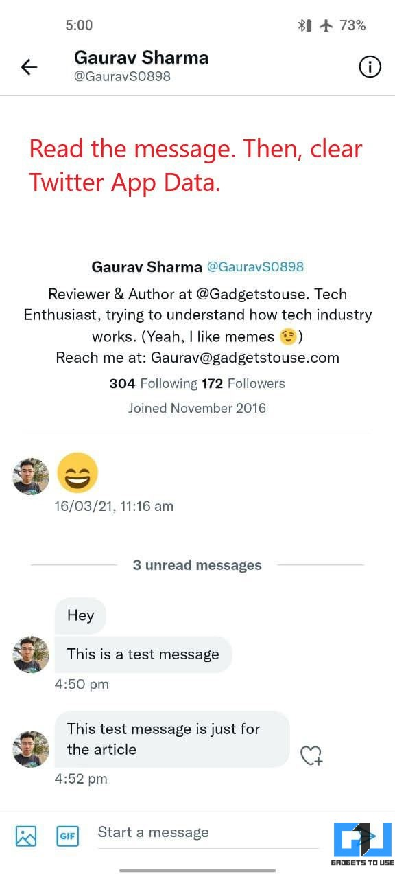 Read Twitter DM Without Seen